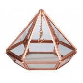 Le porte-alliances terrarium prisme cuivre