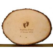Le rondin de bois gravé livre d'or logo