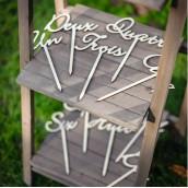 Le marque table en bois  (x 10)