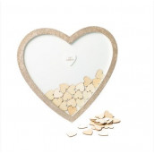 Le coeur à messages en bois