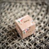 La boîte à dragées kraft et fleurs (x10)