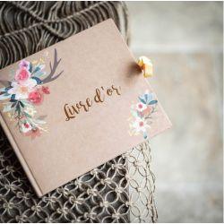 Le livre d'or kraft et fleurs