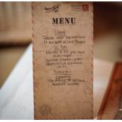 La carte de menu kraft voyage (x10)