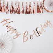 La guirlande happy birthday cuivre