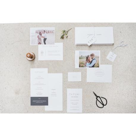 Papeterie mariage style minimaliste for Etre minimaliste