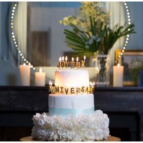 Les bougies joyeux anniversaire or