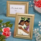 Le porte nom mariage cadre doré