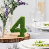 Les 15 numéros de table en mousse verte