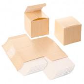 La boite à dragées imprimé bois brut (x12)