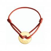 Le bracelet personnalisé témoin plaqué or