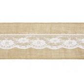 Le ruban toile de jute et dentelle pour noeud