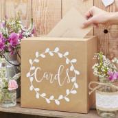 L'urne de mariage kraft champêtre
