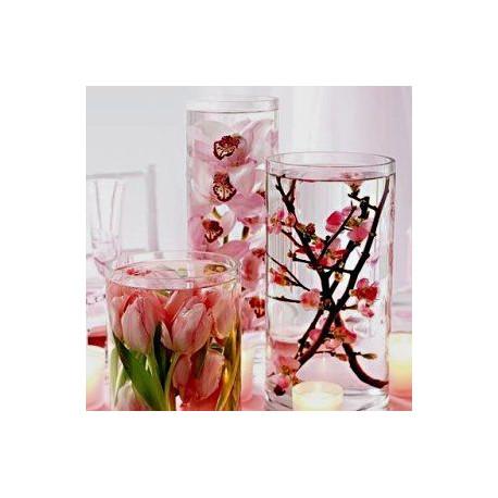 Le vase cylindrique 12cm de diamètre (20 ou 40cm h)