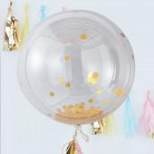 Les 3 ballons géants confettis or