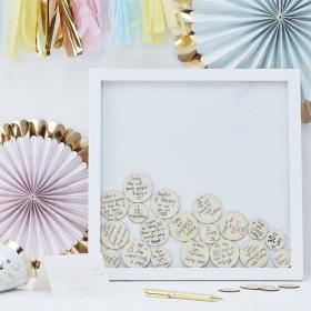 Le cadre à messages confettis en bois