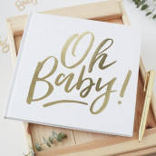 Le livre d'or oh baby blanc et or