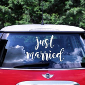 Le sticker Just married