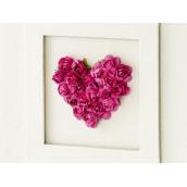 Le livre d'or coeur de roses fuchsia