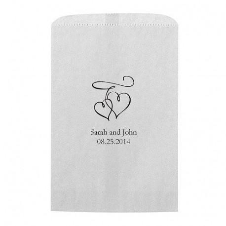 Les sacs en papier personnalisé double coeur