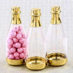 Le contenant à dragées bouteille de champagne