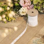 Le ruban de dentelle blanc  1,5cmx10m
