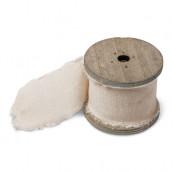 Le ruban lin ivoire 5cm