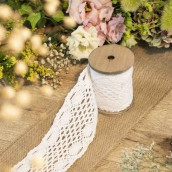 Le ruban de dentelle blanc  8,5cmx3m