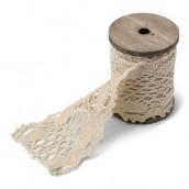 Le ruban de dentelle ivoire 8,5cmx3m