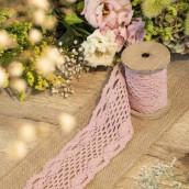 Le ruban de dentelle rose 8,5cmx3m