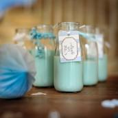 Le ruban de pompons bleus
