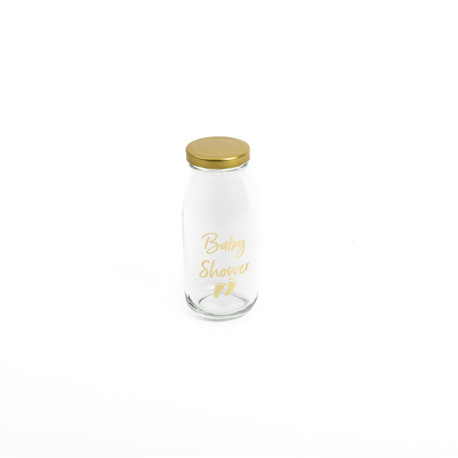 La bouteille en verre avec couvercle
