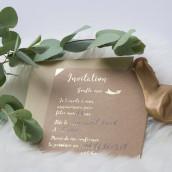 Les 10 invitations anniversaire kraft et or