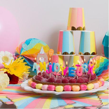 Les Bougies Joyeux Anniversaire Multicolores