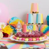 La bougie chiffre anniversaire multicolore