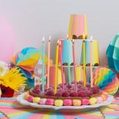 Les bougies géantes multicolores