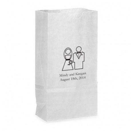 Sac papier cadeau mariage - Petit sac en papier pour mariage ...