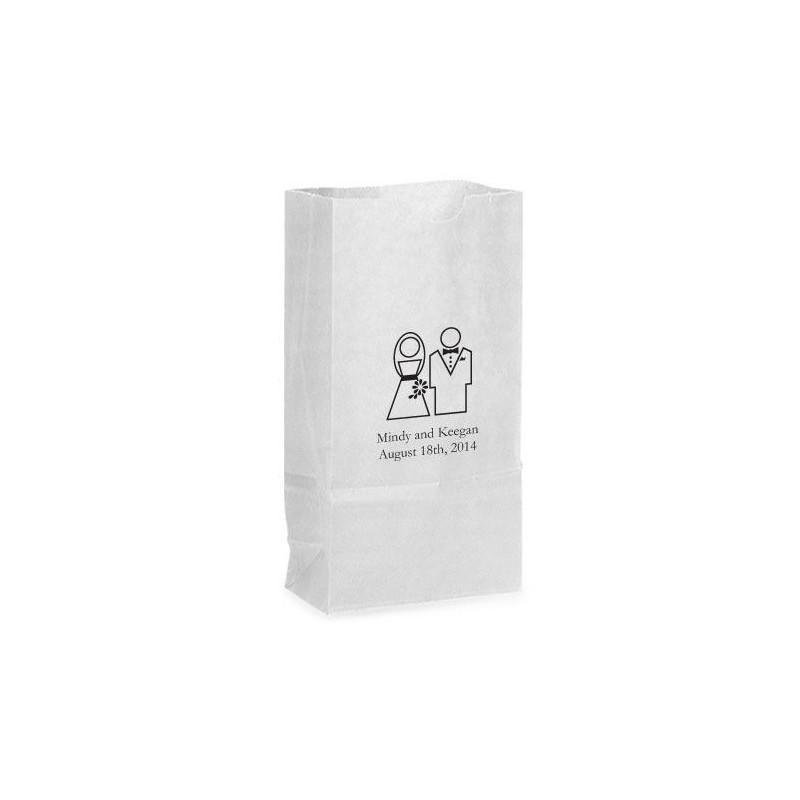 Sac papier pour bonbons mariage - Petit sac en papier pour mariage ...