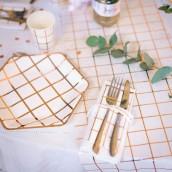 Le chemin de table carreaux cuivre