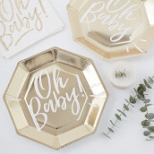 Les 8 assiettes carton baby shower