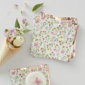 Les 16 serviettes fleurs et cuivre