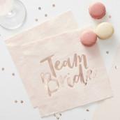 Les 20 serviettes team bride rose et cuivre