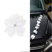Les fleurs autocollantes blanches (x8)