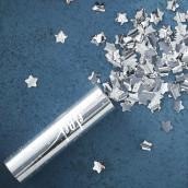 Le canon à confettis étoile argent