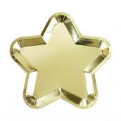 Les 12 assiettes étoile or