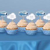 Les cake toppers avion et nuage