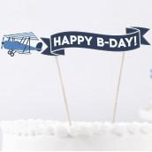 Le cake topper avion pour gâteau