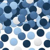 Les confettis de table bleus
