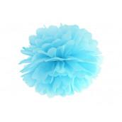 La pompon en papier bleu ciel