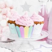Les caissettes à cupcake licorne (x6)