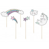 Les cake toppers licorne et arc en ciel